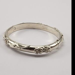 Tiffany & Co Rose Hinged Silver Bracelet